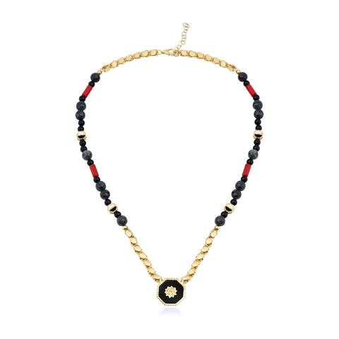 Adel Bead Necklace Gold
