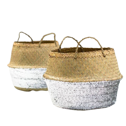 Silver Basket Bag