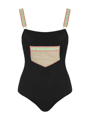 Posh One Piece Black Swimsuit
