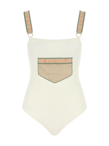 Posh One Piece Cream Swimsuit