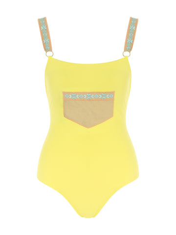 Posh One Piece Yellow Swimsuit