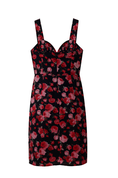 Rose Romance Black & Red Dress