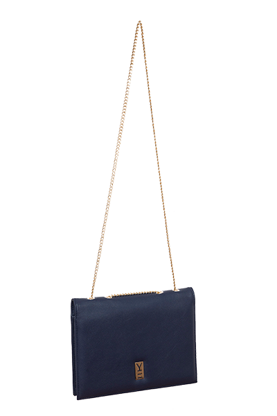 Fancy Note Bag Navy-Orange Mirror