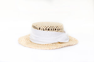Straw White Hat