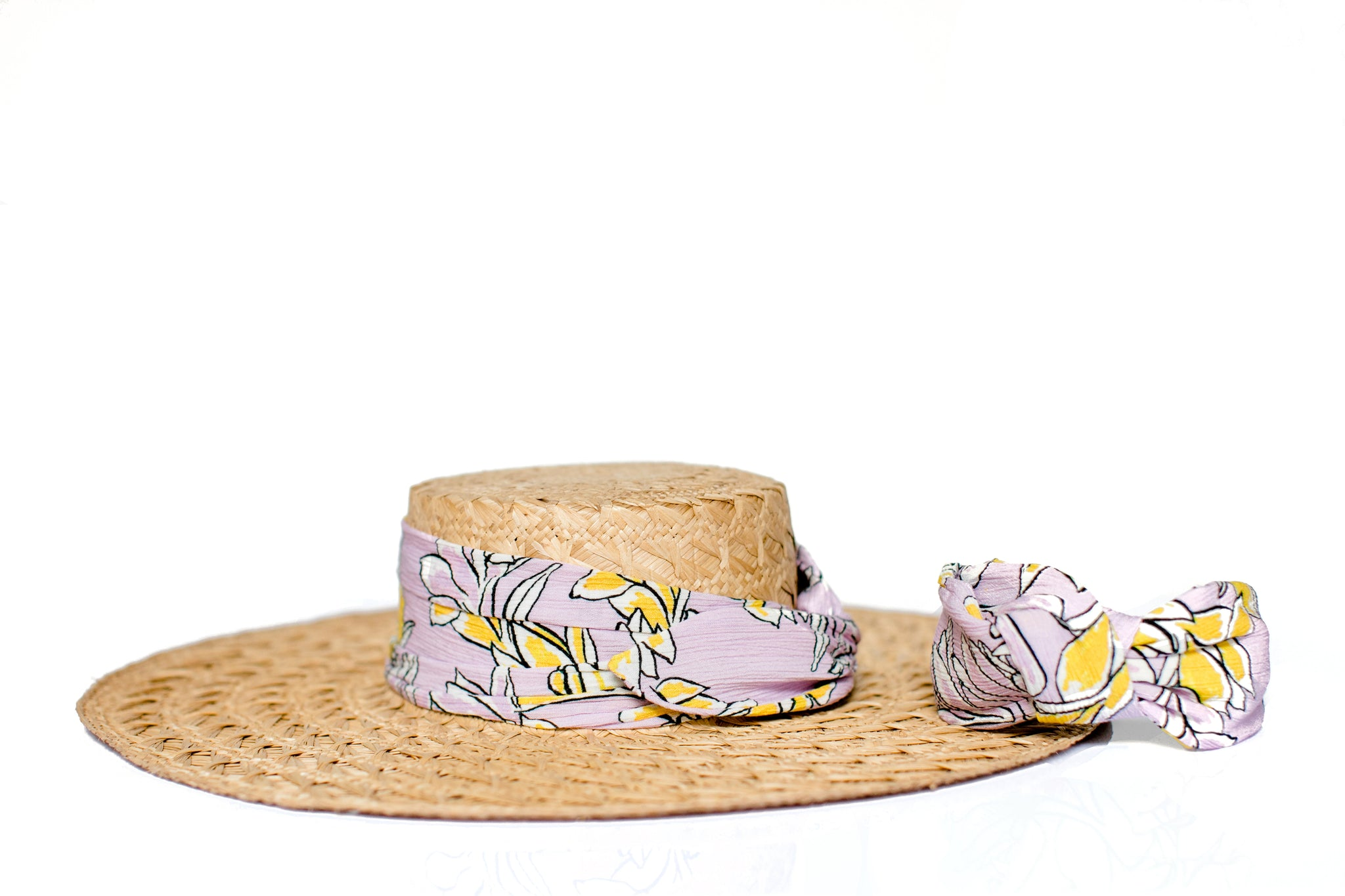 Straw Pink Pattern Hat