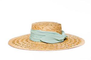 Straw Mint Hat