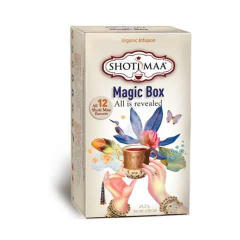 Magic Box, økologisk teboks med alle 12 smaksvarianter