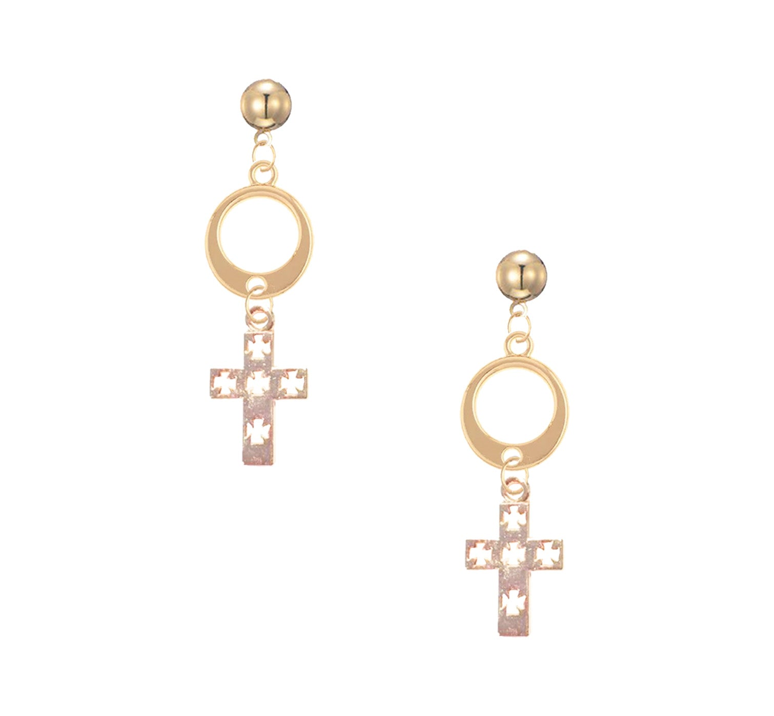 CROSS DROP STUDS