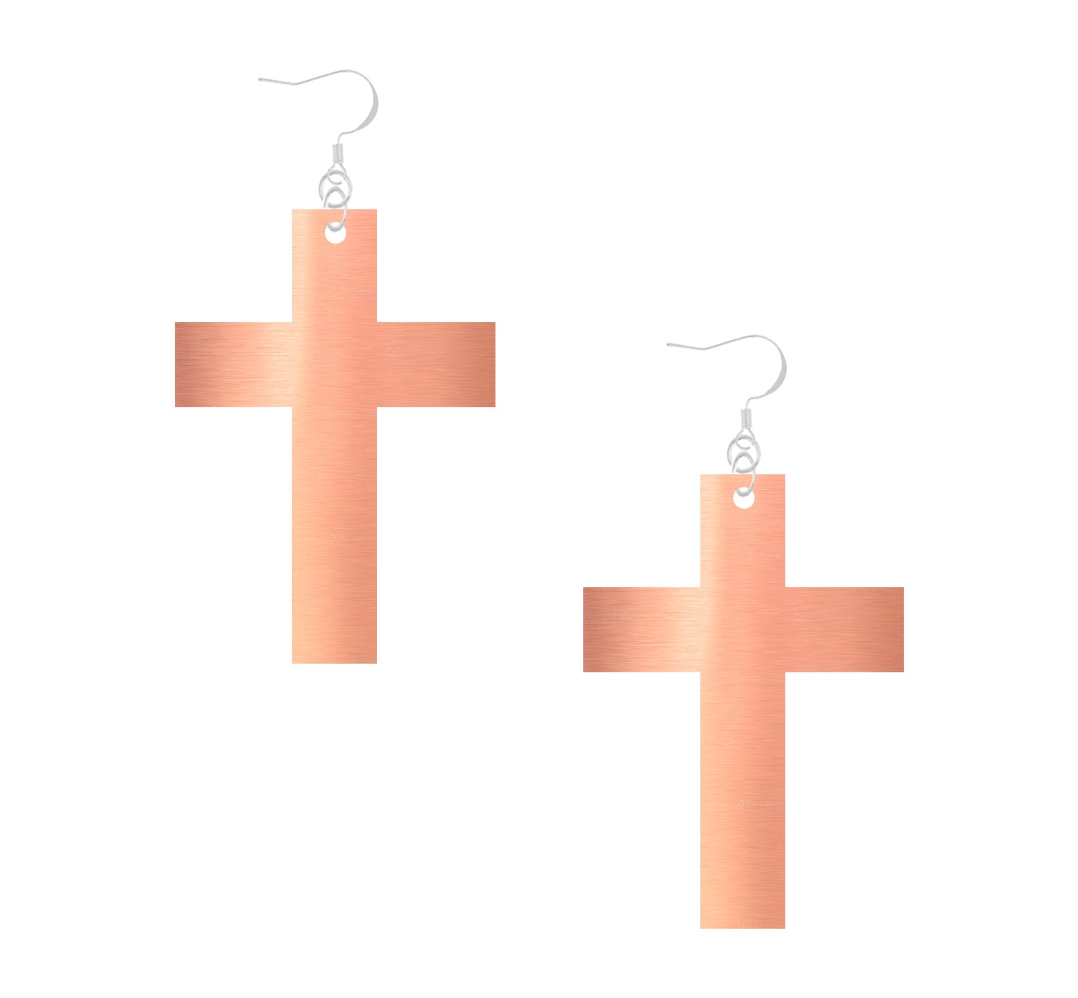 ROSE MIRROR CROSS DANGLES