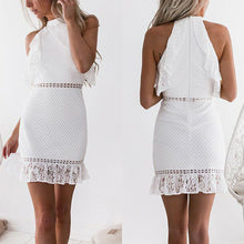 Load image into Gallery viewer, Sexy White Lace Bodycon Mini Dress