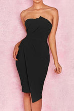 Load image into Gallery viewer, Off Shoulder  Plain Bodycon Dress