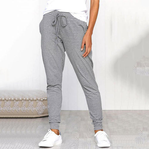 Sexy Comfort Strap Striped Foot Casual Pants
