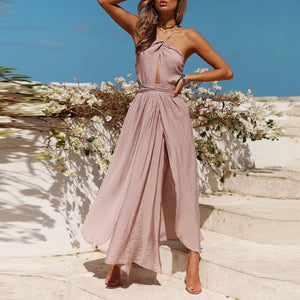 Sexy Halter Off Shoulder Maxi Dress
