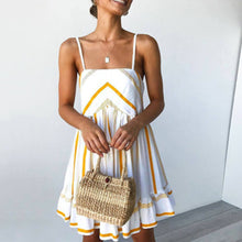 Load image into Gallery viewer, Summer Spaghetti Strap Ruffle Vacation Mini   Dress