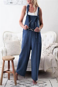 Casual Loose Plain Jumpsuit