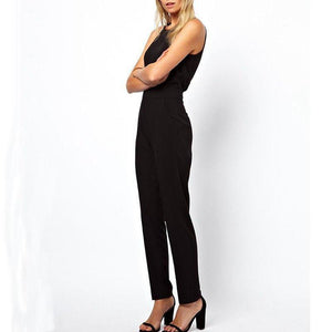 Elegant Sleeveless Casual Jumpsuit