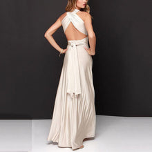 Load image into Gallery viewer, Multi-Rope Cross Halter Sexy Evening Dress