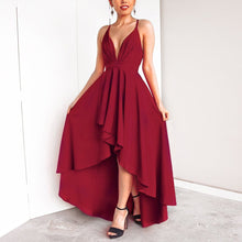 Load image into Gallery viewer, Sexy Elegant Pure Color Sleeveless Maxi Dress