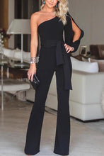 Load image into Gallery viewer, Stylish One Shoulder Long Sleeves Jumpsuit