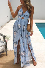 Load image into Gallery viewer, Fashion Floral Print Vacation Maxi Dress