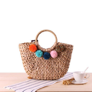 Fashion Hairball Fringe Shoulder Bag Handbag