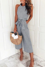 Load image into Gallery viewer, Fashion Casual Stripe Sleeveless Jumpsuit