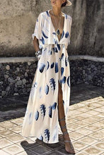 Load image into Gallery viewer, Fashion Short Sleeves Floral Print Maxi Dress