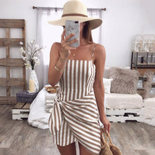 Load image into Gallery viewer, Sexy Stripe Sleeveless Bodycon Mini Dress