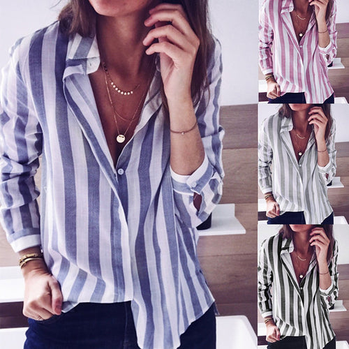 Fashion Casual Long Sleeve Blouse Shirts
