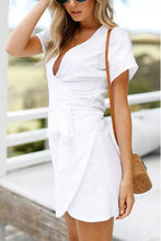 Load image into Gallery viewer, Sexy White Short Sleeves Bandage Mini Dress