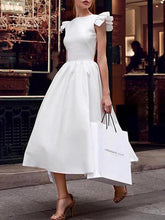 Load image into Gallery viewer, Popular White Ruffled Irregular Evening Dress