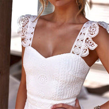 Load image into Gallery viewer, Sweet Off Shoulder Plain Lace Split Joint Evening Dress