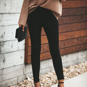 Fashion Solid Color  Slim Pants