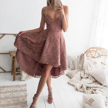 Load image into Gallery viewer, Sexy Off Shoulder Plain Lace Asymmetrical Evening Dress