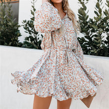 Load image into Gallery viewer, Summer Floral Printed Belted Vacation Dress