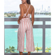 Load image into Gallery viewer, Striped Sling Jumpsuit