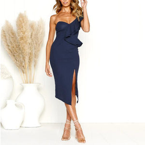 Sexy Sleeveless V-Neck Pencil Dress