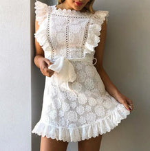 Load image into Gallery viewer, Fashion Dress Lace Print Women's Sleeveless Mini Dress