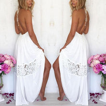 Load image into Gallery viewer, Lace Halter Beach Dress Dress