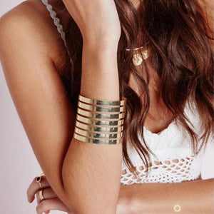 Simple Geometric Rule Long Stripe Open Bracelet