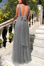 Load image into Gallery viewer, Backless Sleeveless  Sexy Deep V Neck Maxi Dress