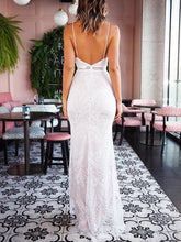 Load image into Gallery viewer, Sexy Lace V-Neck Sling Backless Slim Dress