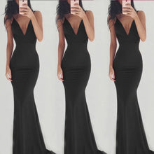Load image into Gallery viewer, Sexy Spaghetti Strap V Neck Backless Evening   Dress