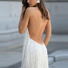 Load image into Gallery viewer, Sexy Backless Sleeveless Tassel Maxi Dress