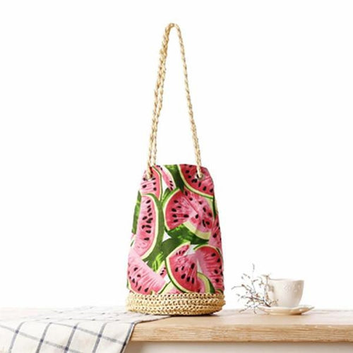 Fashion Watermelon Weaving Shoulder Bag Handbag