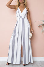 Load image into Gallery viewer, Fashion Stripe Sleeveless Jumpsuits