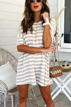 Load image into Gallery viewer, Fashion Stripe Short Sleeve Casual Dress