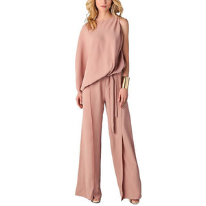 Irregular Straps Waist Speakers Siamese Jumpsuit