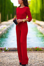 Load image into Gallery viewer, Elegant Long Sleeves Backless Solid Jumpsuit