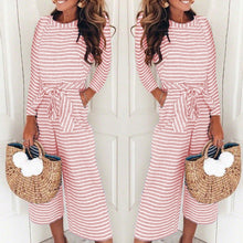 Load image into Gallery viewer, Fashion Stripe Long Sleeve Jumpsuits